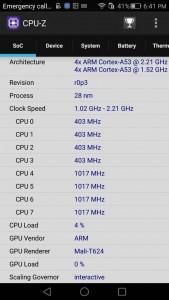 Mate S CPU Z